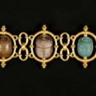 Egyptian Revival Scarab Bracelet