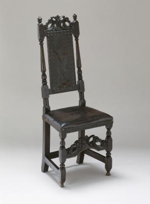 Admirable Carved Top Leather Chair Albany Institute Of History And Art Evergreenethics Interior Chair Design Evergreenethicsorg