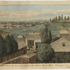 A View from the Surveyor General's Office, State-Hall, Albany; July 1814