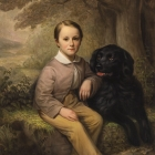 Franklin Adams Treadwell and His Dog