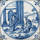 Dutch Biblical Tile, Acts 14:8