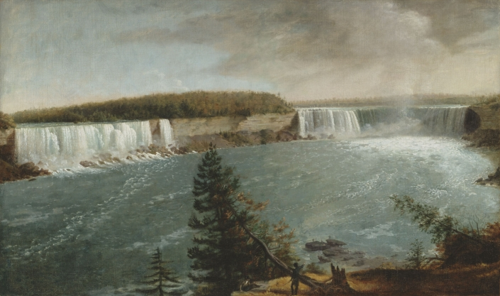 A Distant View Of The Falls Of Niagara Albany Institute