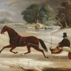 John Van Arnam in his Sleigh