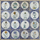 Polychrome Dutch Floral Tiles