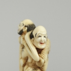 Ashinaga and Tenaga Netsuke