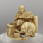 Man and Woman Working Together Netsuke