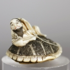 Urashimataro on a Long-tailed Mooke, Netsuke