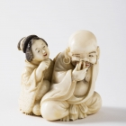 Man and Woman Netsuke