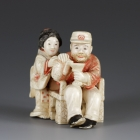Foreigner with Japanese Woman, Netsuke