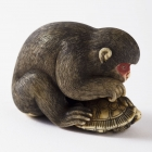 Monkey and Turtle Netsuke