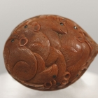 Walnut with Rat Design Netsuke