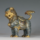 Cloisonné Guardian Lion
