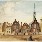 North Pearl Street from Maiden Lane North as it was in 1814