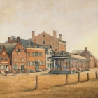 East Side Market Street from Maiden Lane South, Albany, 1805
