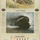 Transportation 90 Years Ago and Today Calendar