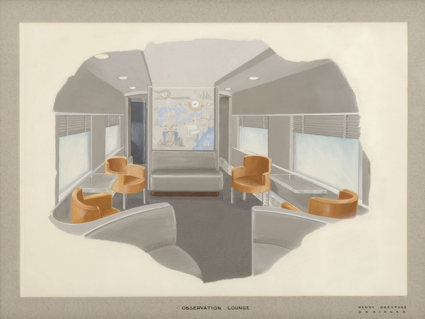 20th century limited interior observation lounge albany for Interior design styles 20th century