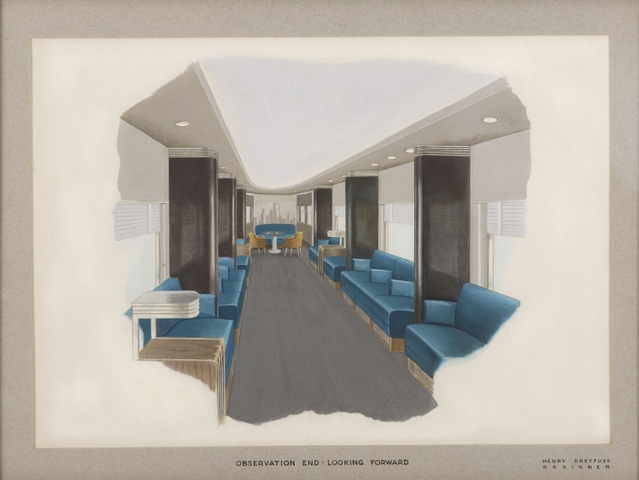 20th century limited interior observation end looking for Interior design styles 20th century