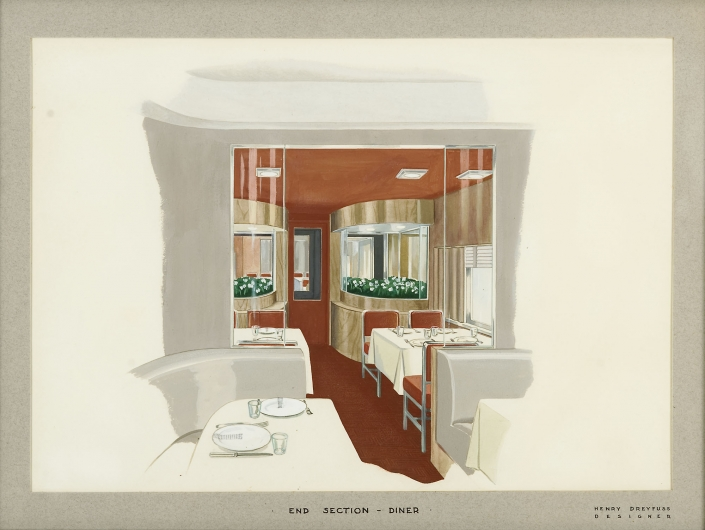 20th Century Limited Interior End Section Diner Albany Institute