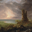 Ruined Tower (Mediterranean Coast Scene with Tower)