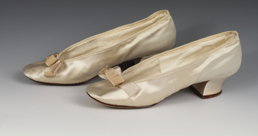 White Silk Satin Wedding Shoes Albany Institute Of