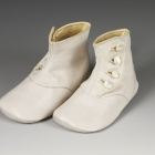 Infant's White Kid Booties