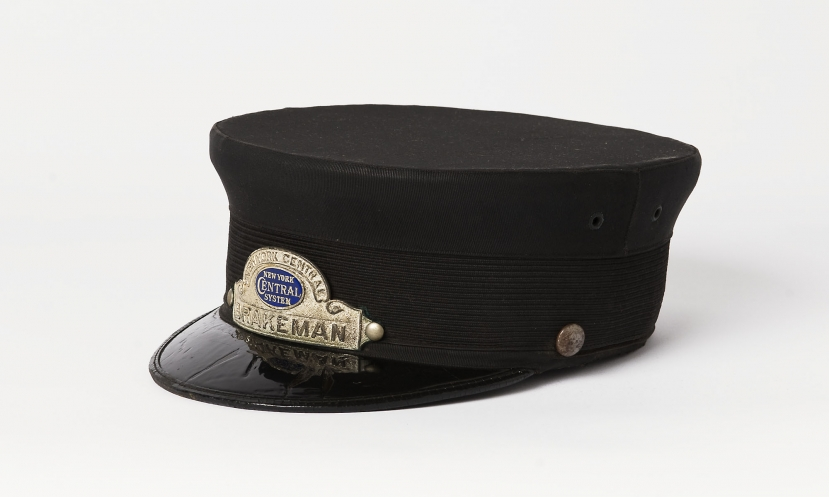New york central railroad conductors hat albany institute of new york central railroad conductors hat pronofoot35fo Gallery