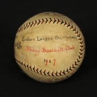 Signed baseball, 1927 Eastern League Champions: Albany Baseball Club