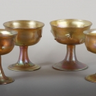 Set of Four Favrile Glass Compotes