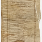 Delavan House Dinner Menu given by the Legislature of the State of New York to Honor Abraham Lincoln, February 18, 1861