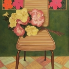 Portrait of Chair with Hibiscus and Andy Warhol's Flowers (1964)