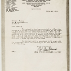 Parker F. Dunn Scrapbook: Letter Referring to Medal of Honor