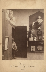 """Sue"" A Merry Christmas, 1884: Charles Calverley in his New York Studio, from the Mary Palmer Calverley Byrne-Ivy Papers, C 500"