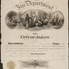 Albany Fire Department Membership Certificate