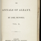 Annals of Albany, Vol. 10, Title Page