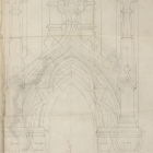 Cathedral of All Saints Architectural Drawing (detail)