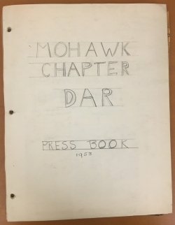 Mohawk Chapter, DAR Press Book, 1953.JPG