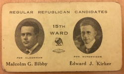 Palm Card for Regular Republican Candidates for the 15th Ward of Albany, undated.JPG