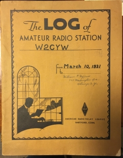 The Log of Amateur Radio Station W2CYW, 1931.JPG