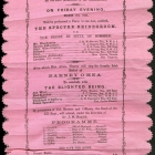 Program for Theatrical at Godown No. 32, Yokohama, March 3, 1865