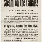Steam on the Canals!