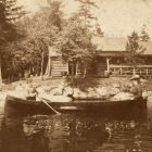 Mr. and Mrs. John Boyd Thacher at their Camp on Blue Mountain Lake, NY